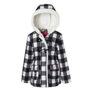 Youth Girls' Pink Platinum Buffalo Check Wool Jacket