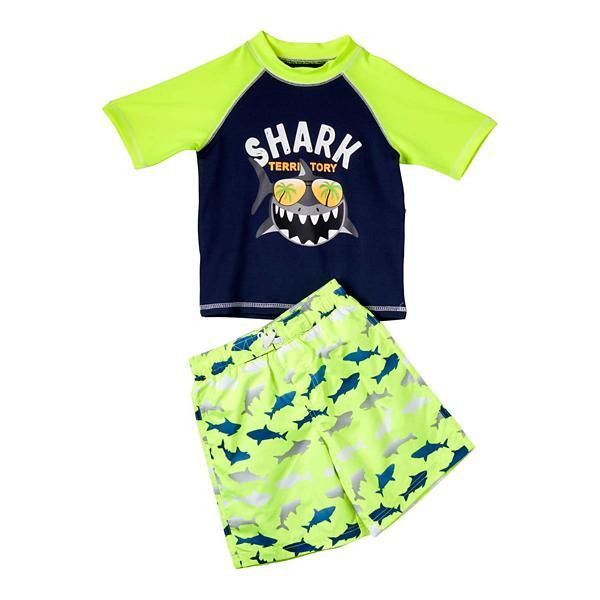 51f686dd Toddler Boys' iXtreme Shark Territory Rashguard Set   SCHEELS.com