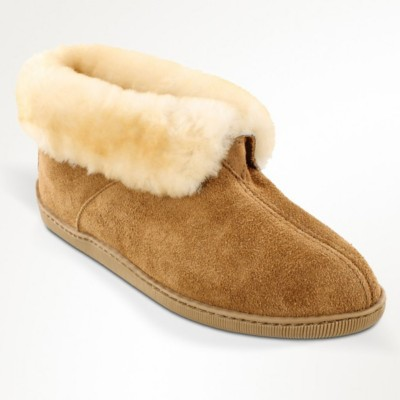 Men's Minnetonka Sheepskin Ankle Slipper