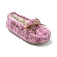 Preschool Girls' Minnetonka Cassie Plaid Slippers