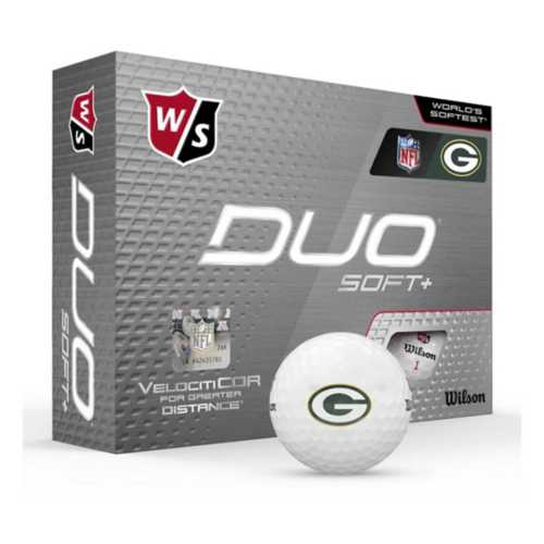 Wilson Green Bay Packers Duo Soft+ Golf Balls