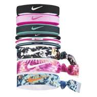 Grade School Girls' Nike Printed Ponytail Mixed Headband 9 Pack
