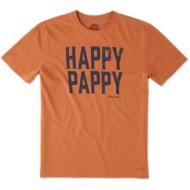 Men's life is good. Happy Pappy Crusher Short Sleeve Shirt