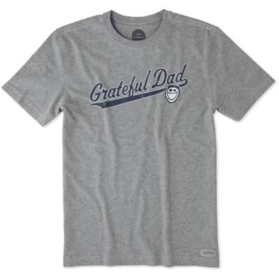 Men's life is good. Grateful Dad Crusher Short Sleeve Shirt