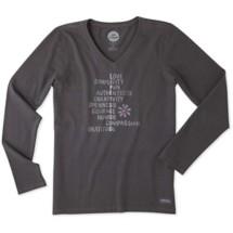 Women's Life is Good Superpowers Crusher Long Sleeve Shirt