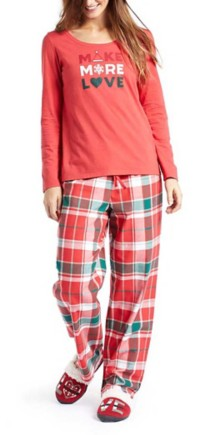 Women's Life is Good Red Plaid Classic Sleep Pant