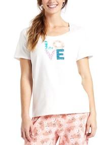 Women's' Life is Good Sleeping Love Patterns Short Sleeve Shirt