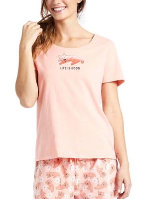 Women's Life is Good Sleeping Rocket Snuggle Sleeve Short Sleeve Shirt