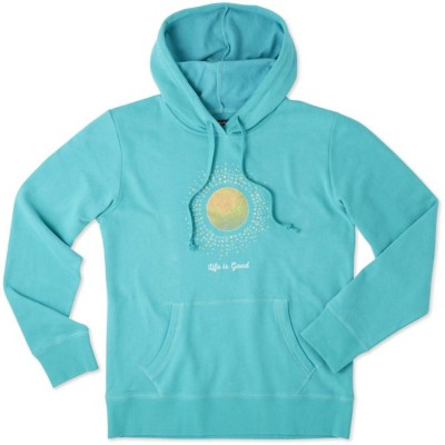 Women's Life is Good Sunray Circles Go-To Hooded Sweatshirt