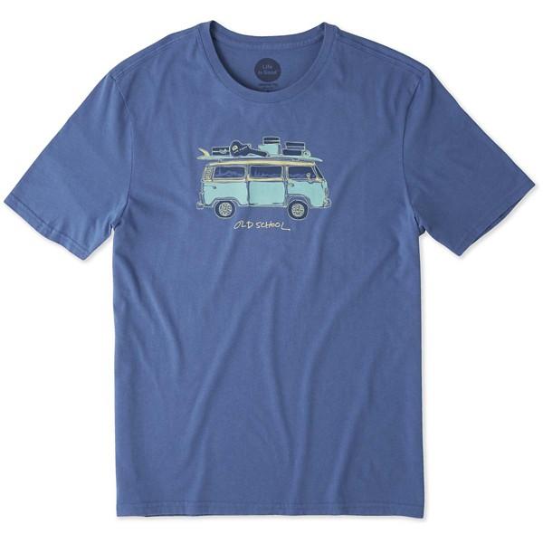 eebdde241558de Men s Life is Good Old School Van T-Shirt
