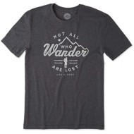 Men's Life is Good Wander Hike Cool T-Shirt