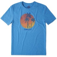 Men's Life is Good Simplify Palms Cool T-Shirt