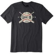 Men's Life is Good Game On Baseball Classic Crusher T-Shirt