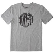 Men's Life is Good Mountain Bike Woo Classic Crusher T-Shirt
