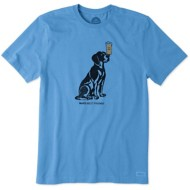 Men's Life is Good Man's Best Friend Crusher T-Shirt