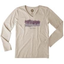 Women's Life is Good Pond Hockey Crusher Long Sleeve Shirt