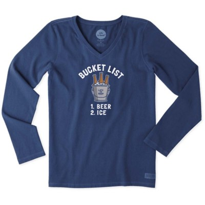 Women's Life is Good Bucket List Crusher Long Sleeve Shirt