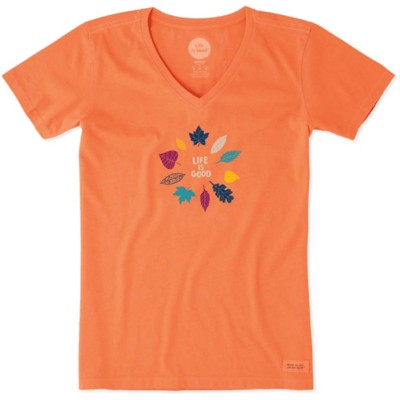 Women's Life is Good Leaf Crusher Short Sleeve Shirt