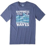 Men's Life Is Good Happiness Short Sleeve Shirt