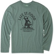 Men's Life Is Good Long Sleeve Cool Tee You Make Happines