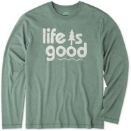 Men's Life Is Good Pine Long Sleeve Shirt