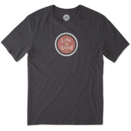 Men's Life Is Good Smooth Tee LiG Coin
