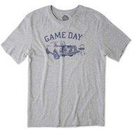 Men's Life Is Good Game Day Football Short Sleeve Shirt