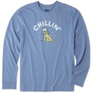 Men's Life Is Good Crusher Chillin' Rocket Long Sleeve Shirt