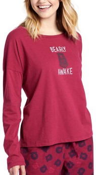 Women's Life Is Good New Bearly Awake Relaxed Long Sleeve Shirt