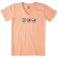 Women's Life Is Good Crusher Log on Crash Rebo Short Sleeve Shirt