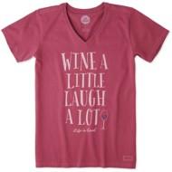 Women's Life Is Good Crusher Laugh A Lot Short Sleeve Shirt