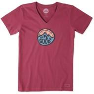Women's Life Is Good Crusher Wander Coin Short Sleeve Shirt