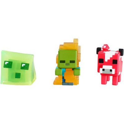 Mattel Minecraft Collectible Figures Assorted 3-Pack