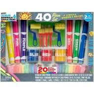 RoseArt Sidewalk Chalk Paint 40-Piece Deluxe Set