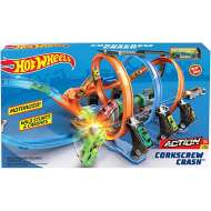Hot Wheels Corkcrew Crash Track Set