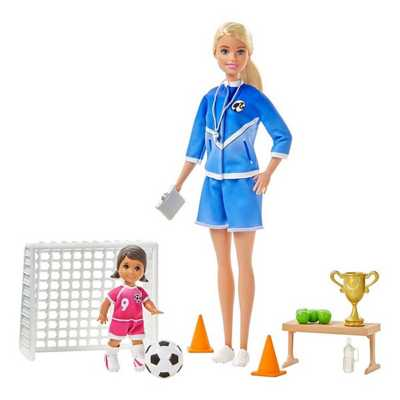 Barbie Soccer Coach Playset