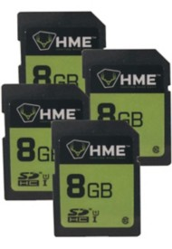 HME 8GB SD Card 4 Pack