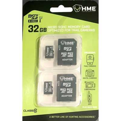 HME 32GB Micro SDHC Memory Card 2 Pack