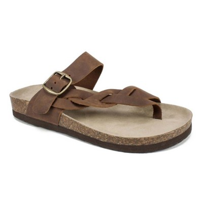 Women's White Mountain Crawford Leather Sandals