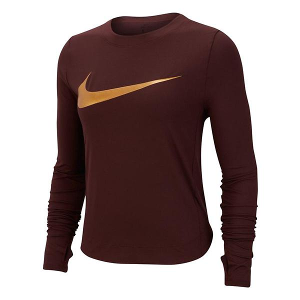 Tap to Zoom  Blue Void Tap to Zoom  Gunsmoke Atmosphere Grey Htr Tap to  Zoom  Women s Nike Dry Element Graphic Long Sleeve Running Shirt 4f25d9f2f