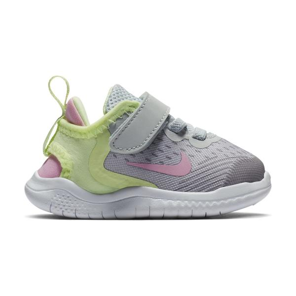 c8e54da8a456 Tap to Zoom  Pure Platinum Pink Rise-Barely Volt Tap to Zoom  Toddler Girls   Nike Free RN 2018 Running Shoes