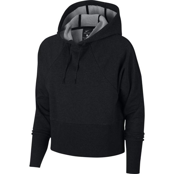 9702b5e30a45 ... Women s Nike Crop Pullover Training Hoodie Tap to Zoom  Black Heather  Black