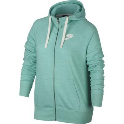 Women's Nike Plus Size Sportswear Gym Vintage Full Zip Sweatshirt 2017