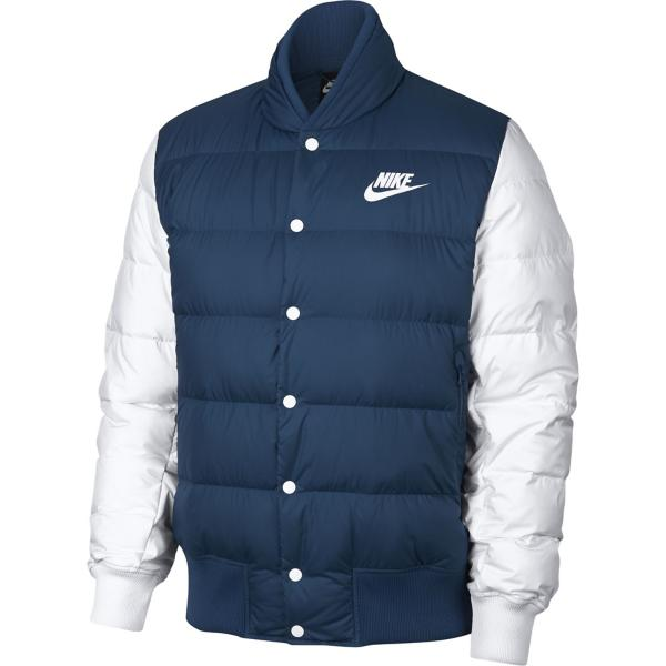 Tap to Zoom  Blue Force Pure Platinum White Tap to Zoom  Men s Nike  Sportswear Down Bomber Jacket b19985187378