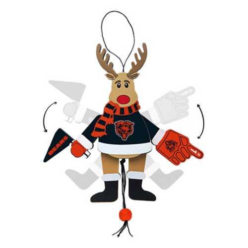 Logo Brands Chicago Bears Wood Reindeer Ornament