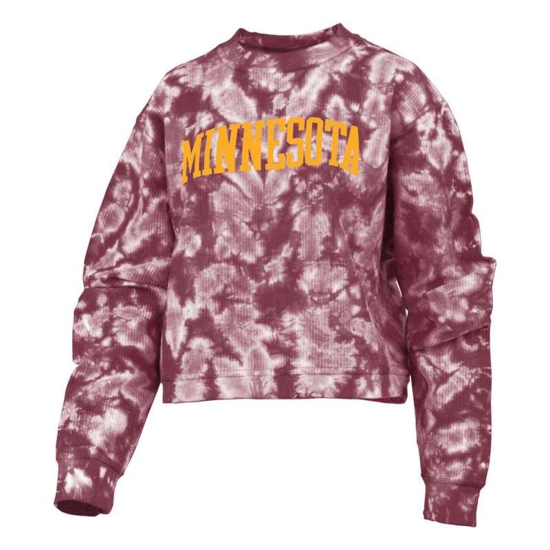 Pressbox Women's Minnesota Golden Gophers Campus Tie-dye Crewneck Sweatshirt