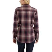 Women's Carhartt Hubbard Sherpa Lined Flannel Shirt Jac