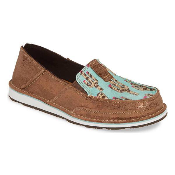265707f57373 ... Women's Ariat Cruiser Shoes Tap to Zoom; Metallic Bronze/Leopard Cactus