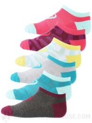 Youth Girl's Invasion No Show 6 Pack Socks