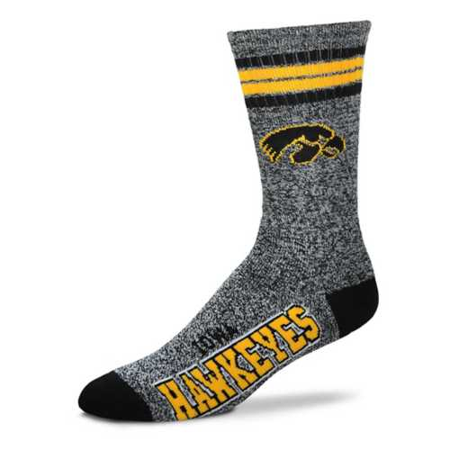 For Bare Feet Iowa Hawkeyes Marbled Crew Socks